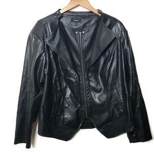 Torrid Faux Black Leather Moto Jacket